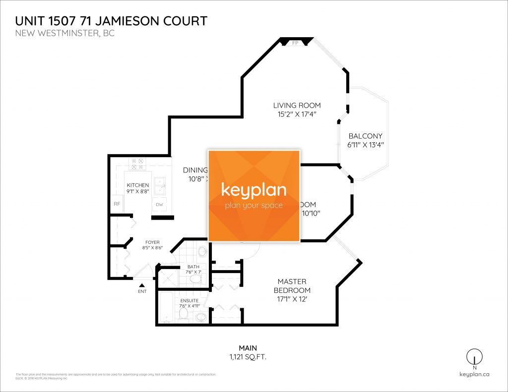 Unit 1507 71 jamieson court new westminster palace quay floor plan