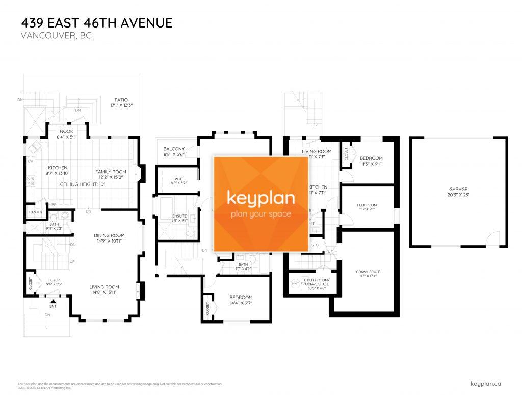 439 East 46th Avenue Vancouver Floor Plan Keyplan Measuring Design