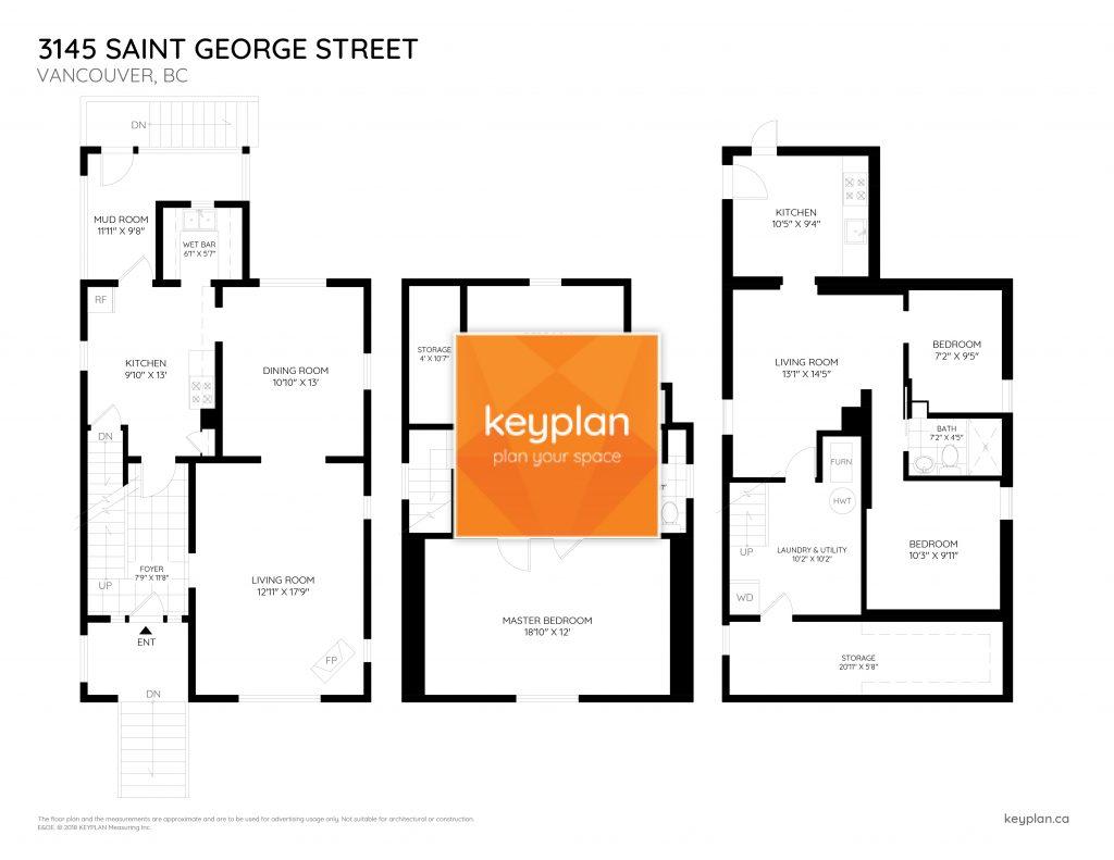 3145 Saint George Street Vancouver Floor Plan Keyplan Measuring Design